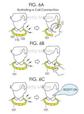 Samsung патентує розумний шийний браслет