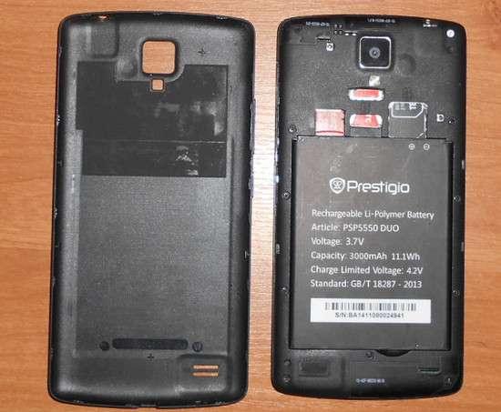 Смартфон Prestigio 5550 duo досвід використання