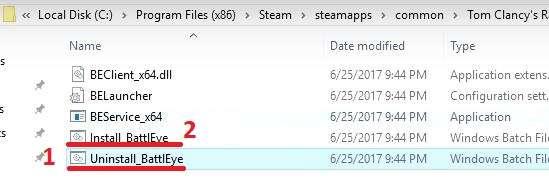 Як виправити Failed to install BattlEye Service при запуску гри