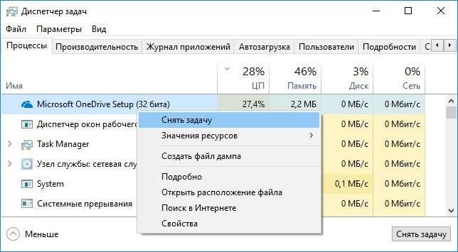Microsoft OneDrive не оновлюється і вантажить процесор — рішення